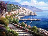 Ceramic Tile Mural - Amalfi Coast - by Sam Park/Soho Editions - Kitchen backsplash / Bathroom shower