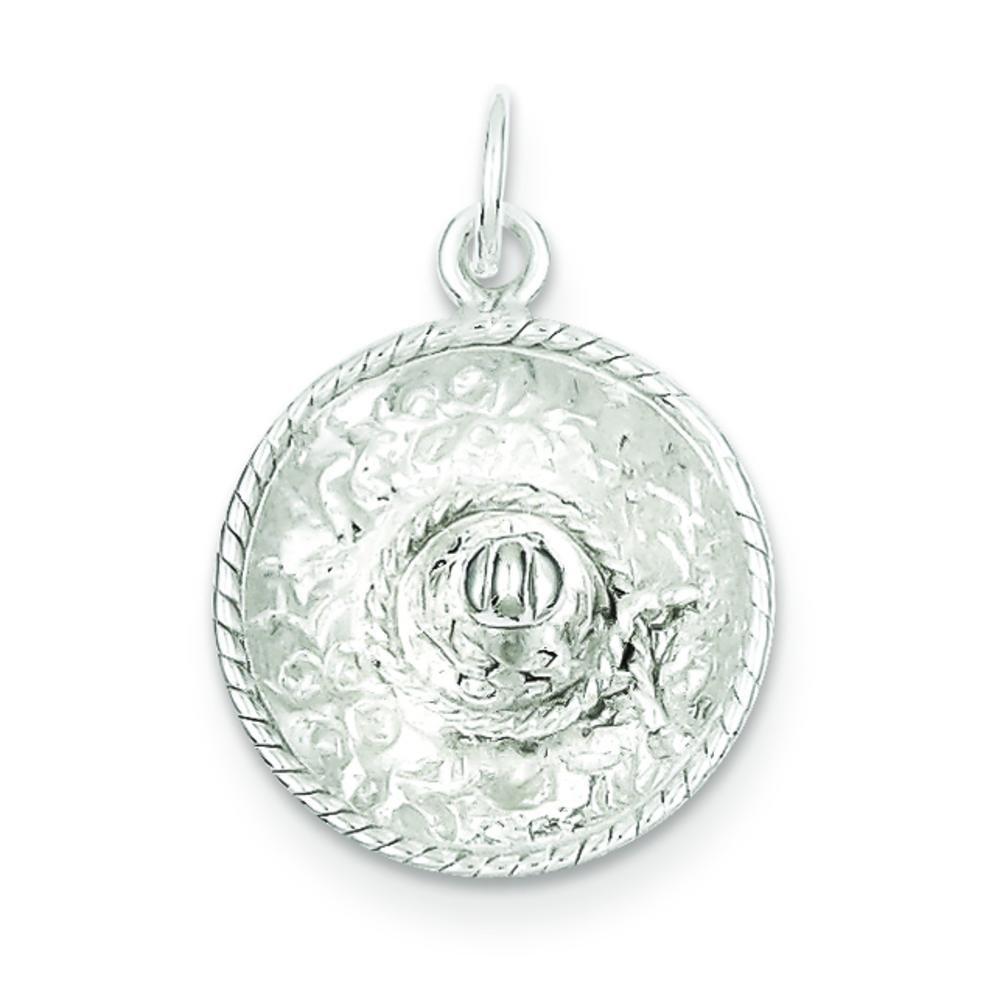 Sterling Silver Sombrero Charm & 18'' Chain