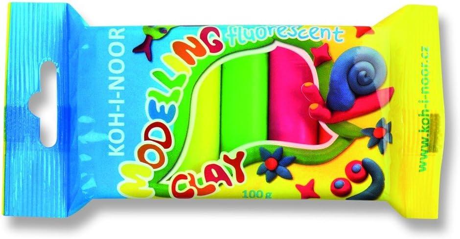 Argile 2,1 x 16,3 x 7,3 cm Koh-I-Noor 01315S0502PS Set of Fluorescent Modelling Clay 5