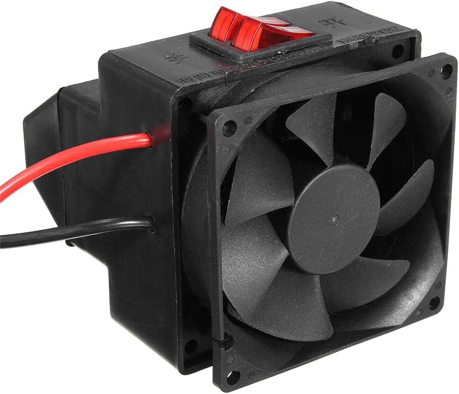 YSCCSY Calentador de Aire Ventilador 12 V / 24 V 200 W Temperatura del automóvil eléctrico Ajustable Parabrisas Desempañador Descongelador Calentador de Aire Caliente,12V
