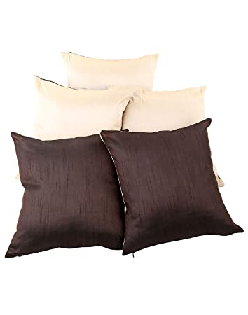 Wohnzimmer Einfarbig Polyester Kissenbezug Dekokissen Creme Elegant Set 5  Pillow Case Couch 40x40 Sofa Vintage Pillowcases