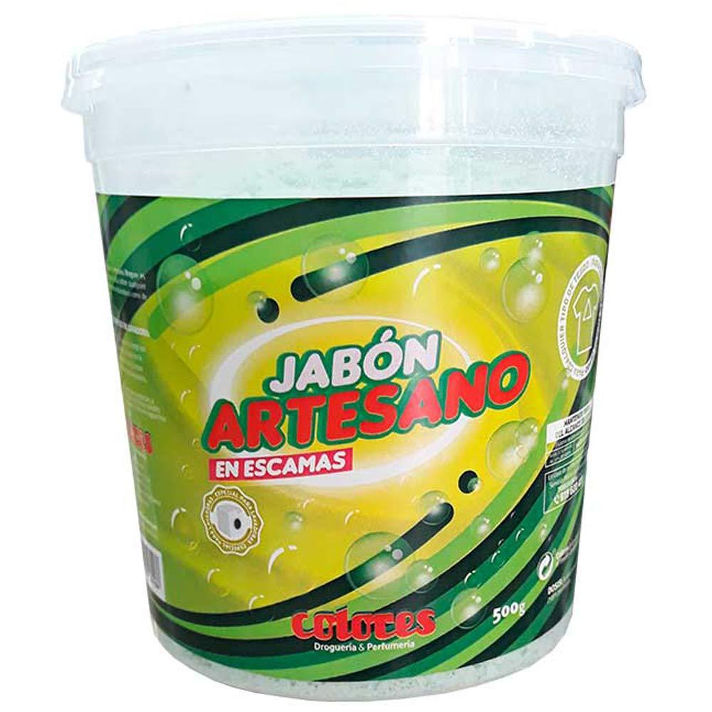 Colores Jabón Artesano con Escama 500 g: Amazon.es: Salud y ...