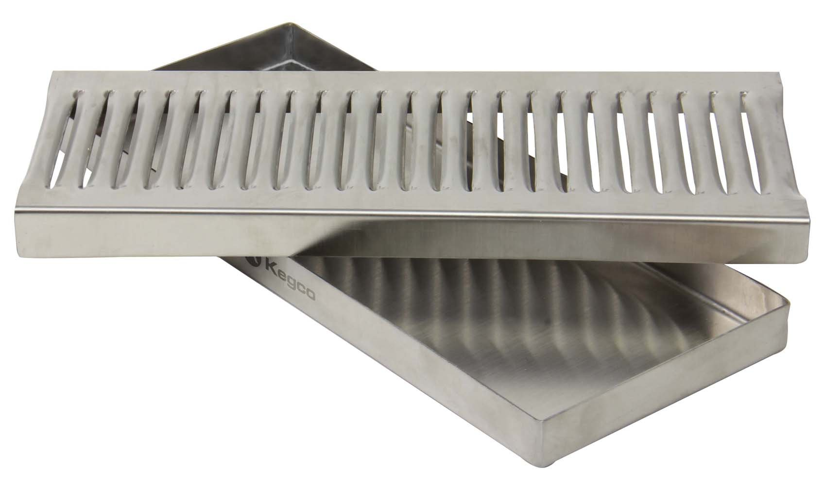 Beverage Factory MM DP-120 12'' Beer Drip Tray Stainless Surface Mount No Drain