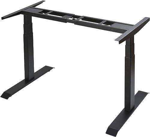 Height Adjustable Desk Electric Standing Desk Home Office Desk Dual Motor Black Frame Only