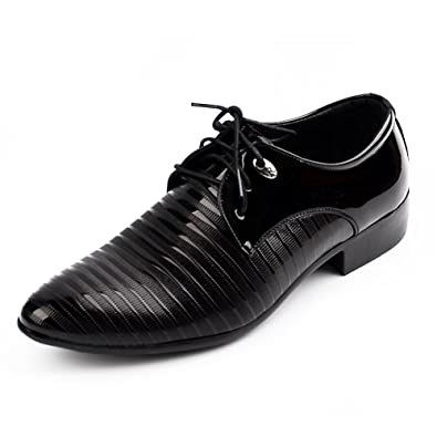 Men's Oxford Classics Soft Leather Smart Formal Casual Lace Up Shoes Black US6.5