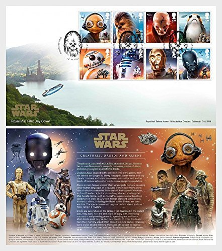 Star Wars The Last Jedi - First Day Cover Collectible Postage Stamps