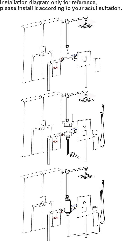 Onyzpily 3 funciones Juego de ducha color dorado