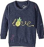 Chaser Kids Baby Girl's Love Knit Raglan Pineapple Love Pullover (Toddler/Little Kids) Avalon 5