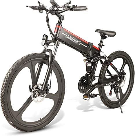 SAMEBIKE Plus E-Bike, E-MTB, E-Mountainbike 48V 10.4Ah 499Wh ...