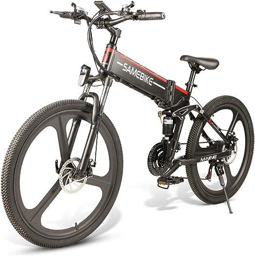 SAMEBIKE Bicicleta de montaña eléctrica plegable de 26 pulgadas ...