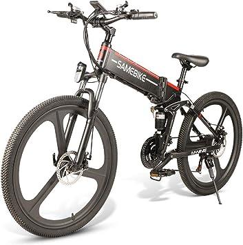 SAMEBIKE Plus E-Bike, E-MTB, E-Mountainbike 48V 10.4Ah 499Wh - Bicicleta De Montaña Eléctrica Plegable De 26 Pulgadas con Cambio De 21 Niveles Asistido: Amazon.es: Deportes y aire libre