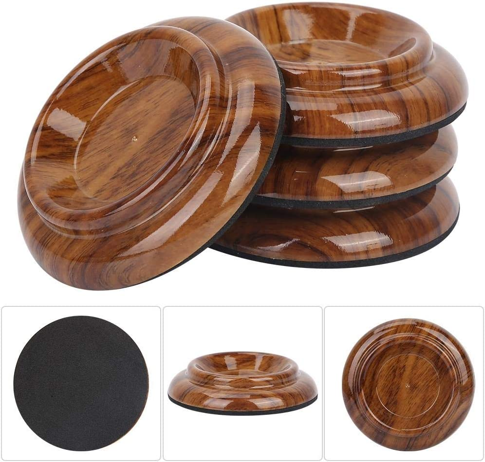 Wooden Grand Piano Mats Piano Caster Cups Anti-skid Anti-Noise Piano Accessories 4 Pcs for Hardwood Floor Protectors Grand Piano