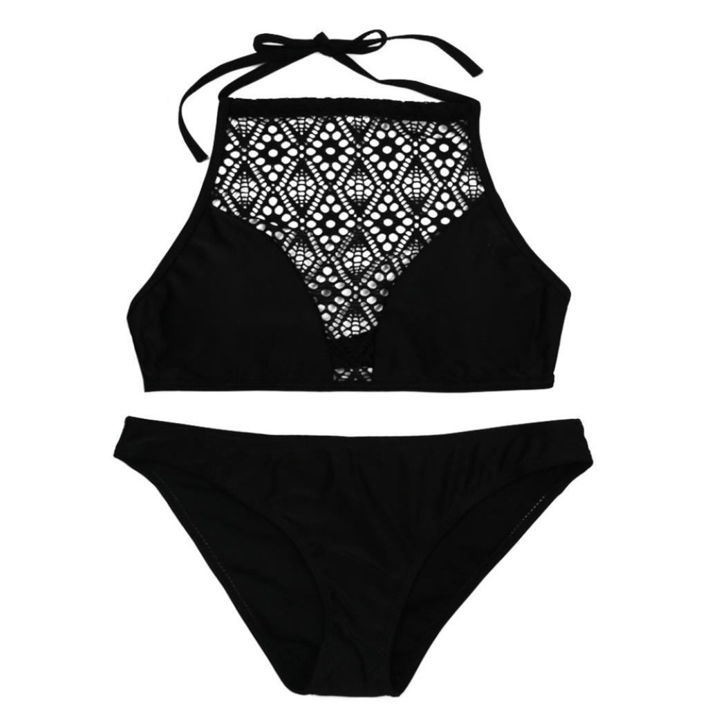 DEELIN Malla De Las Mujeres Openwork Sexy Engrosamiento Sujetador Atractivo Bikini Traje De Playa Traje De BañO: Amazon.es: Ropa y accesorios