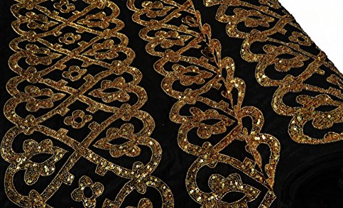 Gold Quilt, Custom Quilt, Bespoke Bedding with Sequins Embroidery