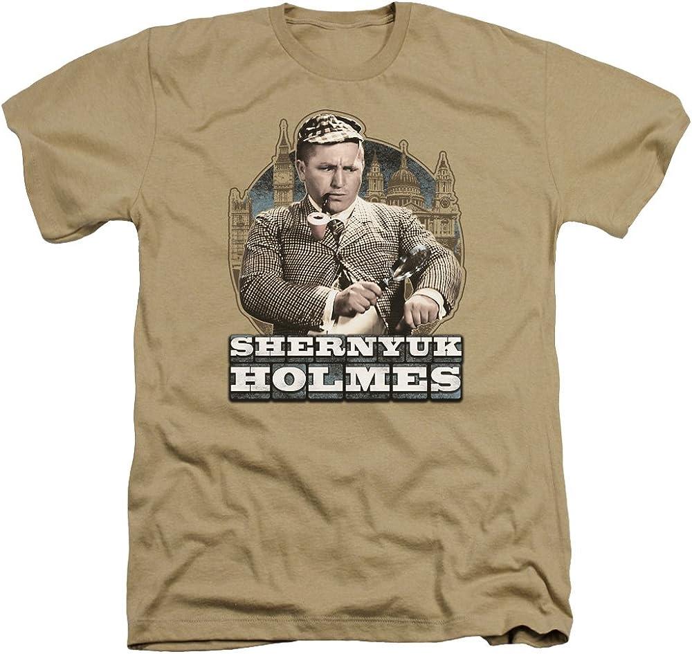 Three Stooges Heather T-Shirt Shernyuk Holmes Sand Tee