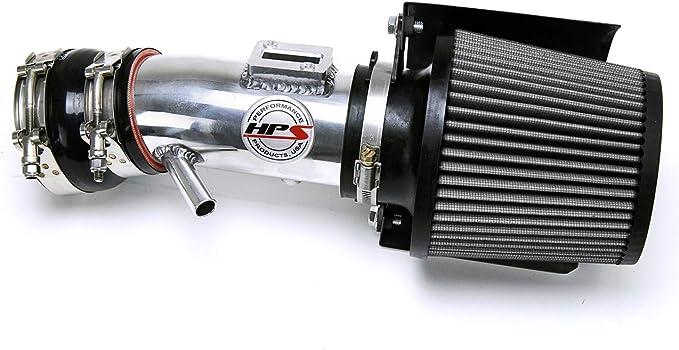 1 Pack HPS Performance 827-275P Polish Shortram Air Intake Kit Cool