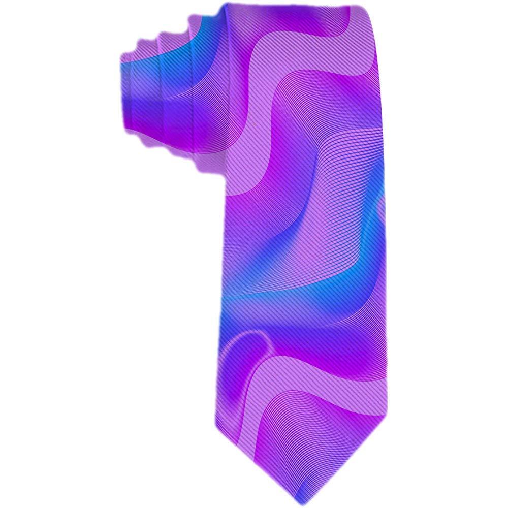 Corbata clásica para hombre Corbata Rosa neón Violeta Azul Onda ...