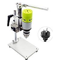 Sazoley 7-Speed Mini Drill Press Bench Electric Bench Drilling Machine Chuck 1.5-10mm 100W Small Bench Drill DIY Pure…