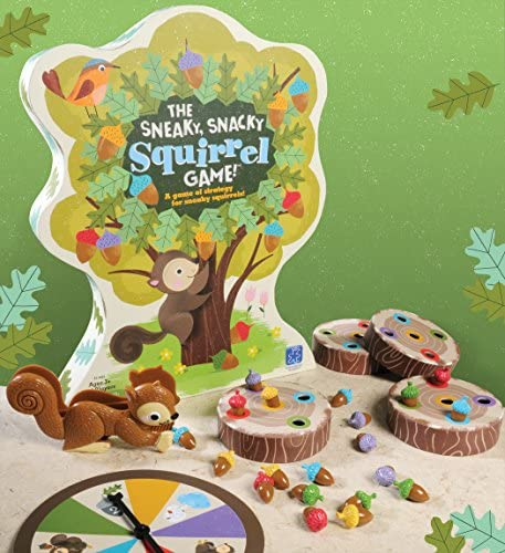 Educational Insights The Sneaky, Snacky Squirrel Toddler & Preschool Board Game, Ages 3+
