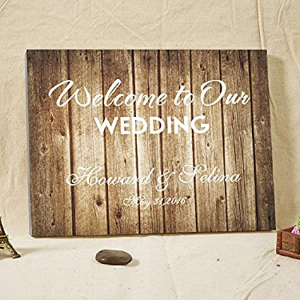 Amazon Welcome To Our Wedding Personalized Wedding Decorations