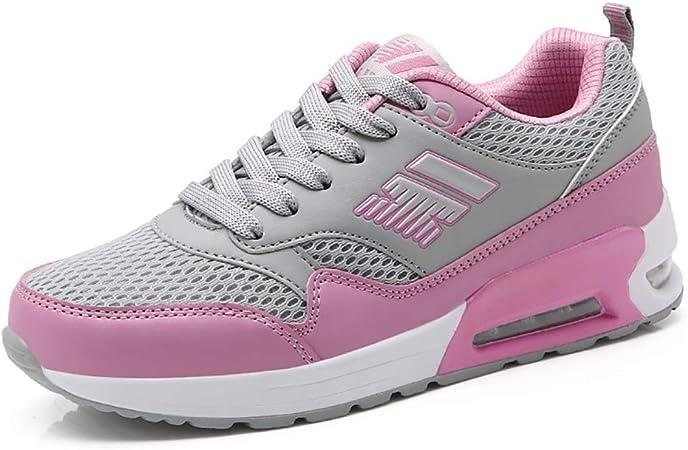 ZLYZS Zapatillas De Running Mujer Otoño Cómodo Transpirable PU + Malla Planos Plataforma Zapatillas De Deporte Mujer De Ocio Zapatillas De Deporte,Gray,40: Amazon.es: Hogar