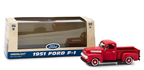 Ford F  Pickup Truck Coral Red Flame  Cast Model Car