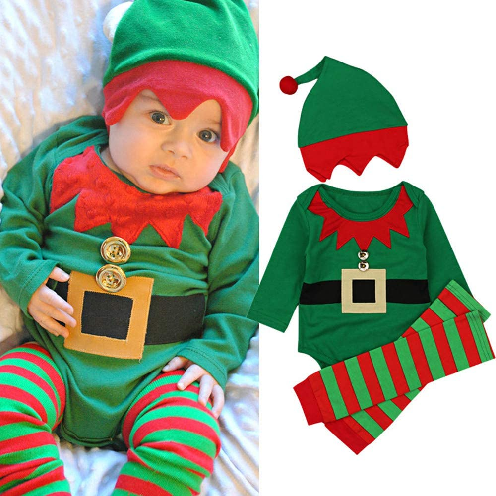 Amazon.com: Disfraz de elfo de dibujos animados de Navidad ...