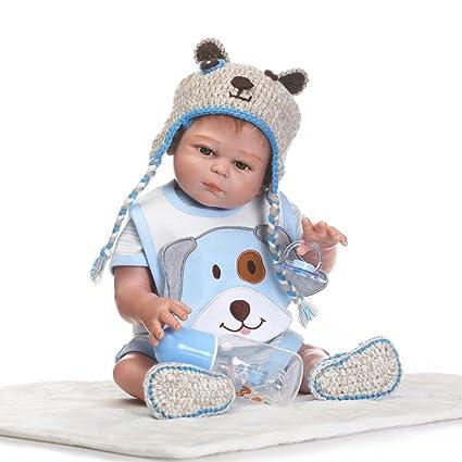Amazon.com: oumeinuo muñeco Reborn (silicona, vinilo muñeca ...