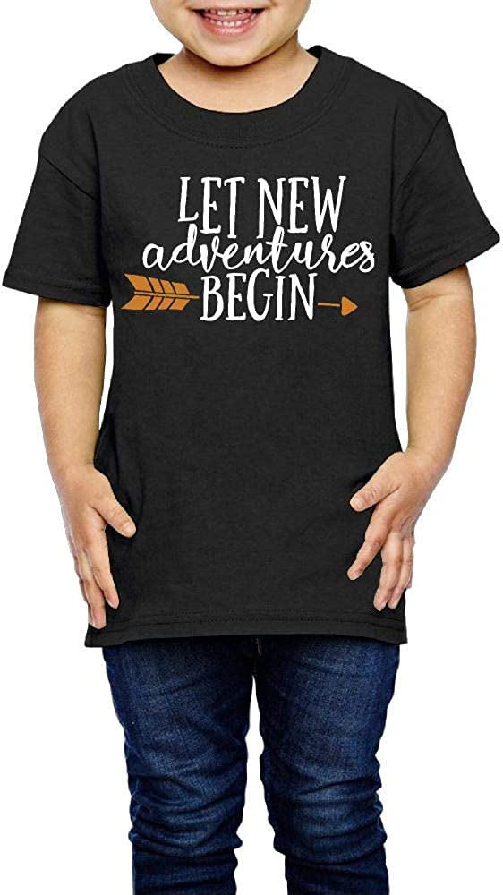 2-6 Years Old Kcloer24 Let New Adventure Begin Baby Boys Girls Personality T-Shirt Summer Clothes