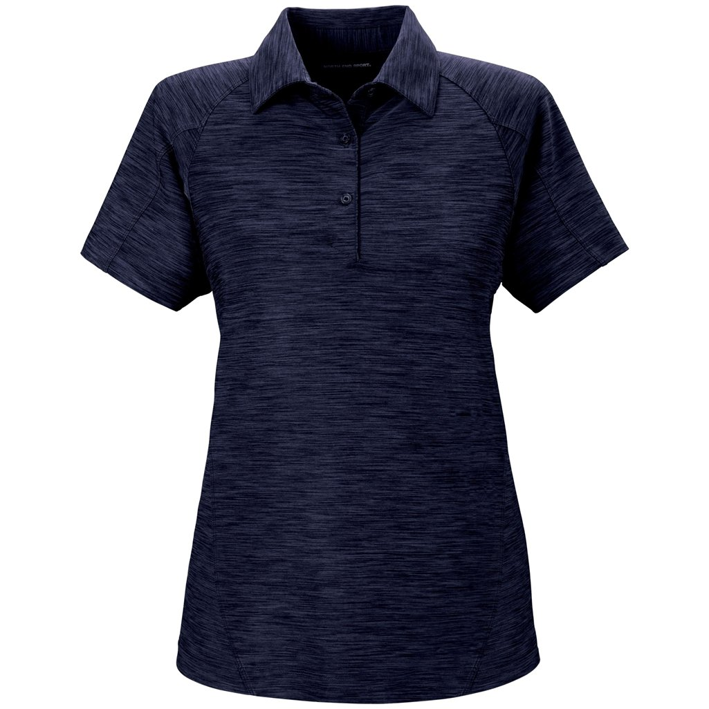 Ash City Ladies Barcode Stretch Polo (Medium, Night) by Ash City Apparel