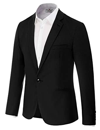 6f11102a9b1 Men's Suit Jacket One Button Slim Fit Sport Coat Business Blazer Size S  Black