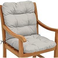 Beautissu Cojín para sillas de balcón Flair NL - Cojín para Asiento Exterior con Respaldo bajo…