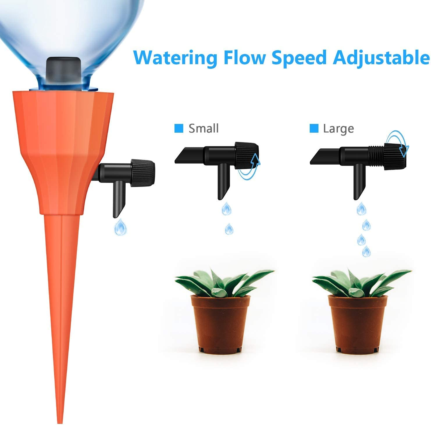 Poolan 5 Pack Vacation Plantes Waterer Self Watering Stakes Automatic Watering System 5 Plant Self Drip Irrigation Slow Release for Indoor or Outdoor Houseplants