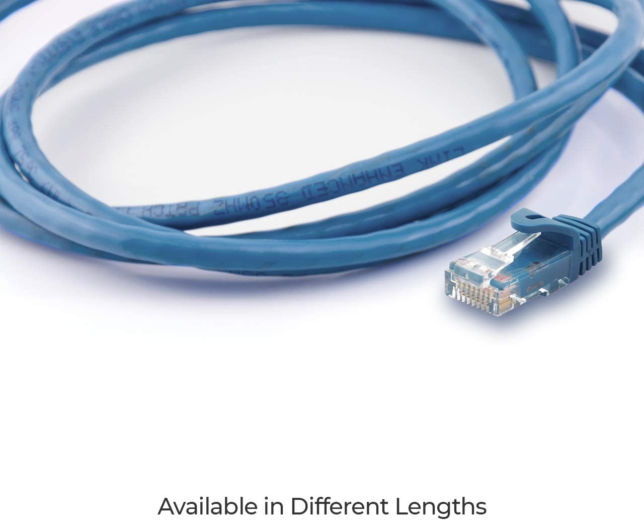 Omnigates 14ft RJ45 Cat6a Ethernet Network Patch Cable Gold Plated UTP Blue