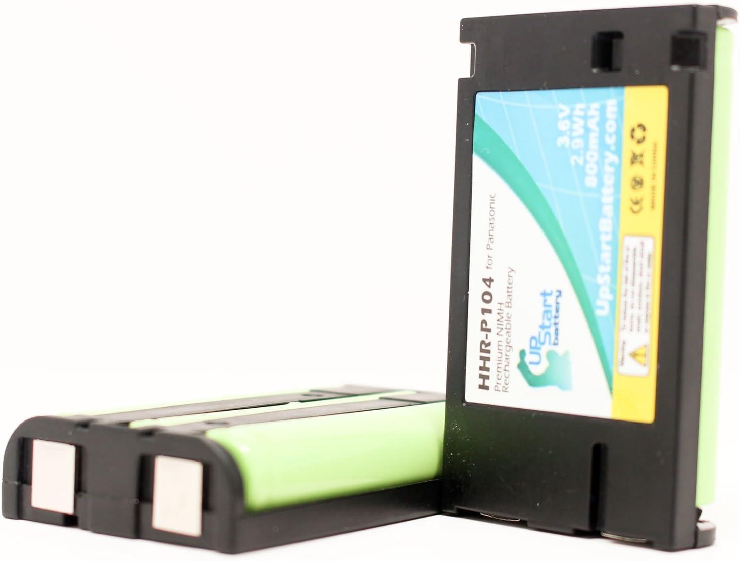 2x unidades–de repuesto para PANASONIC HHR-P104–Batería para Panasonic teléfono inalámbrico recargable (800mAh, 3,6V, Ni-MH)