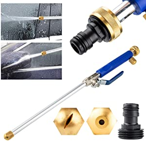 2 in1 High Pressure Washer Deep Jet Power Washer Wand Extendable Garden Sprayer with Water Hose Nozzle for Glass Cleaning Car Window Washer