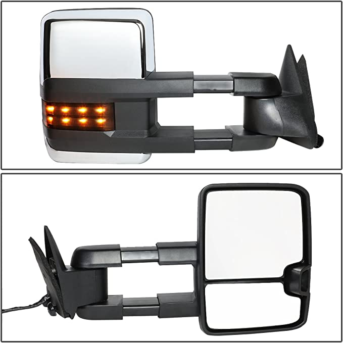 DNA MOTORING TWM-038-T888-BK-AM-R Right Towing Side Mirror