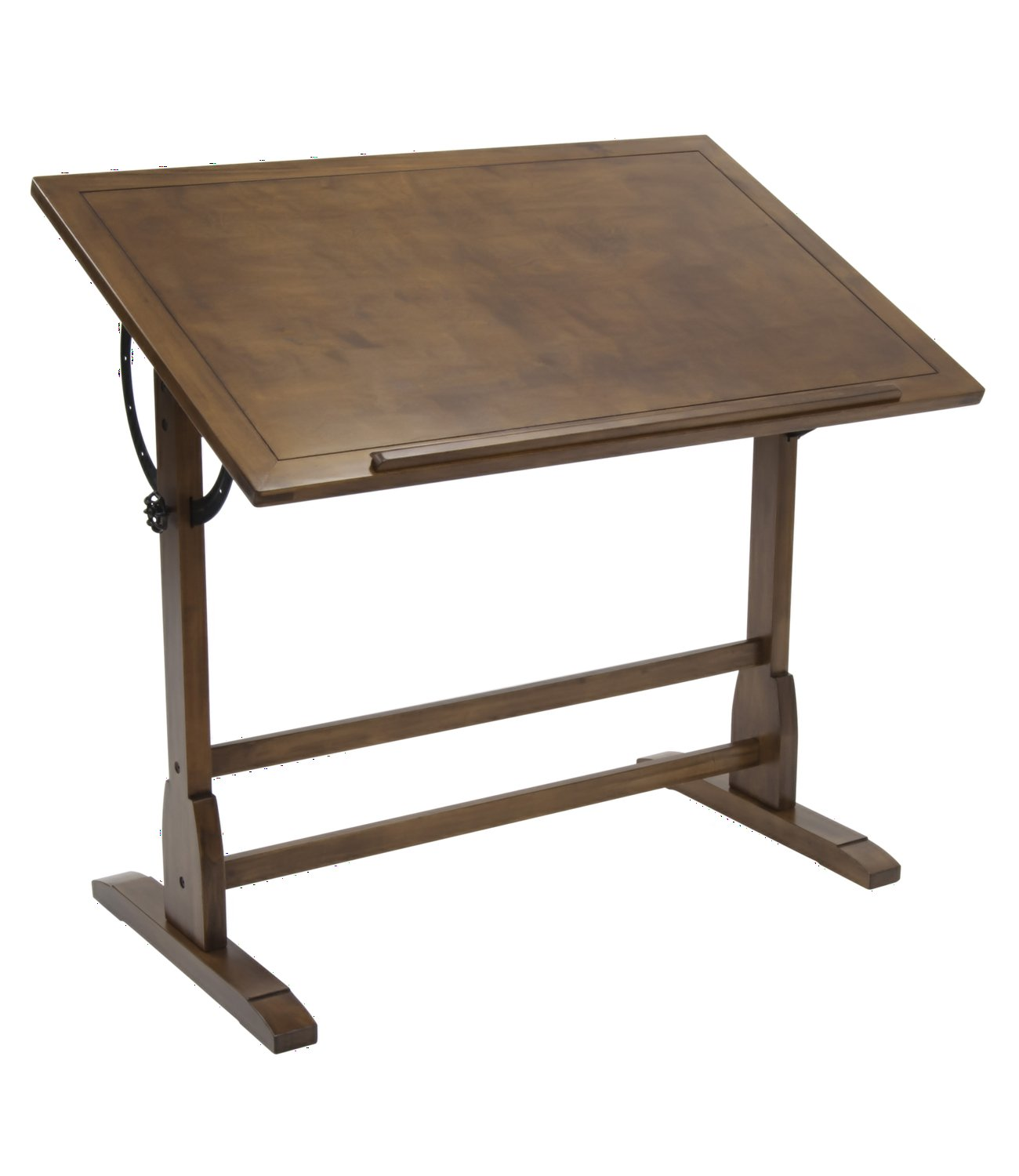 Offex Elegant Distressed Wood Vintage Drafting Table Rustic Oak 42'' x 30'' by Offex