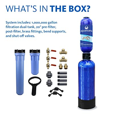 Aquasana 10-Year, 1,000,000 Gallon Whole House Water Filer with Professional Installation Kit