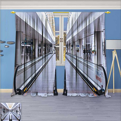 - Flower Design Foil Printed Grommet Thermal Insulated Window Panels Airport straight elevator For Kidsroom, 84W x 72L Inch