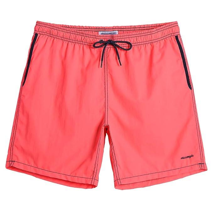 9c4c37710c3af blackmogoo Mens Quick Dry Short Swim Trunks with Mesh Lining Slim Fit  Boardshorts Bathing Suits Beachwear with Pockets | Amazon.com