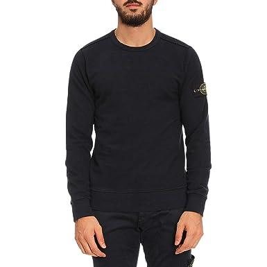 70e1bf7586 Stone Island Crew Neck Badge Logo Sweatshirt Navy V0020 62720 XXX-Large   Amazon.co.uk  Clothing