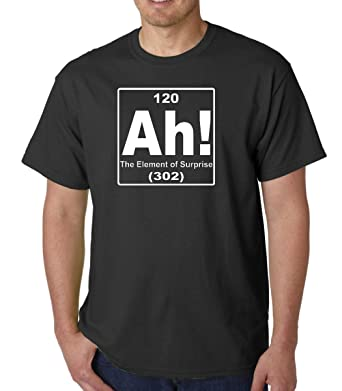 Amazon ah the element of surprise periodic table adult black t ah the element of surprise periodic table adult black t shirt tee small urtaz Choice Image