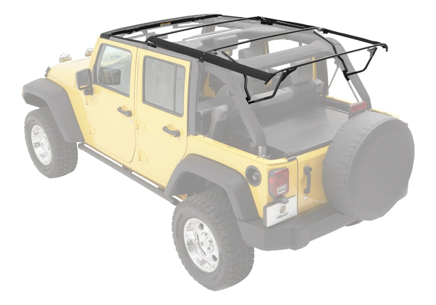 Factory Cable Style Bow Kit For 2010 2018 Wrangler Jk Jeep Yj Engine Diagram Parts List Unlimited Automotive