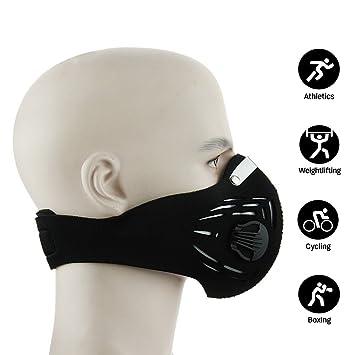 Entrenamiento fitness entrenamiento MMA alta simulación de altitud al polvo mascara mascara de gas de escape