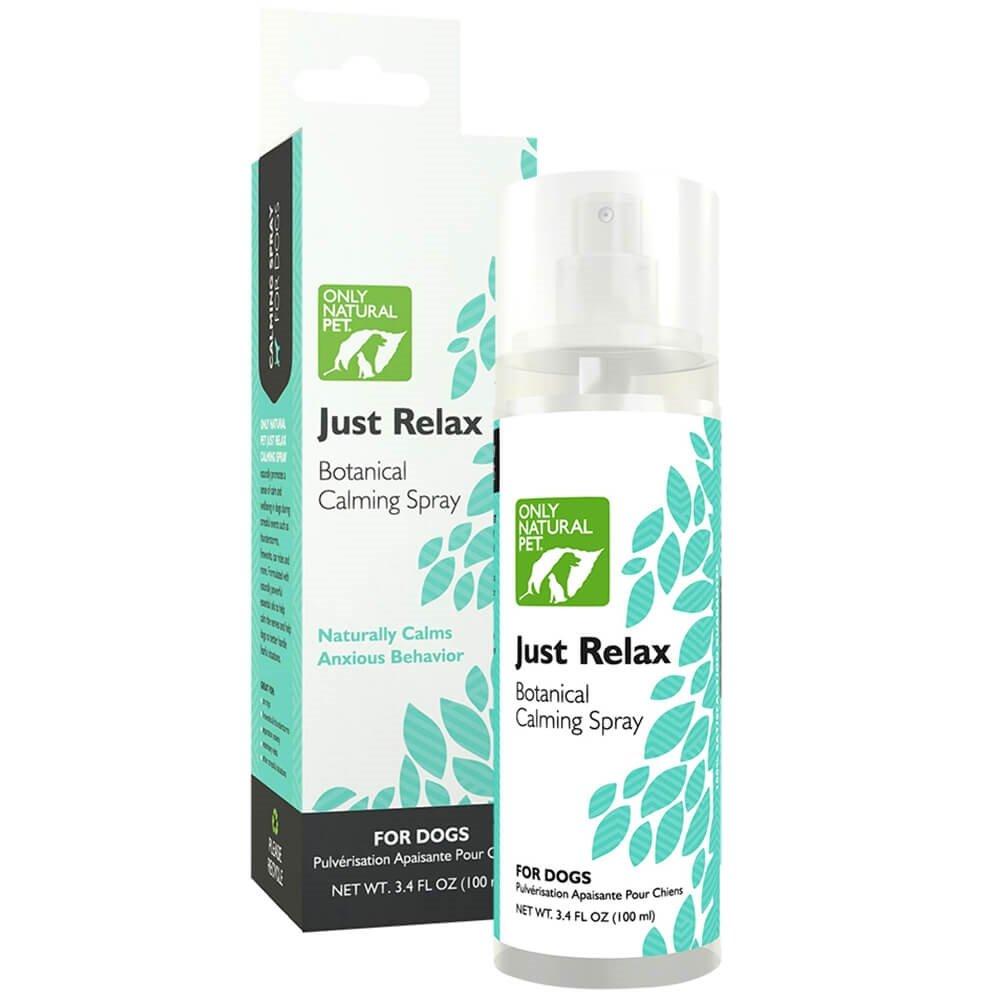 Only Natural Pet Just Relax Botanical Behavior Calming Spray for Dogs - Naturally Calms Anxious Behavior - 3.4 oz Spray