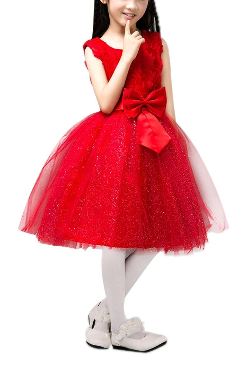 Fakeface Kids Flower Girl Princess Dresses Ball Gown Evening Birthday Party Easter Wedding Dress