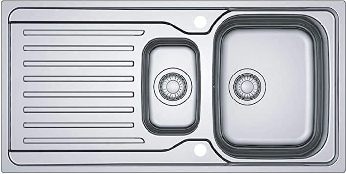 Franke Antea Azn 651 Stainless Steel Reversible 1 5 Bowl Kitchen Sink And Waste Amazon Co Uk Diy Tools
