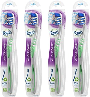 product image for Tom's of Maine Whole Care Toothbrush, Soft, 4-Pack