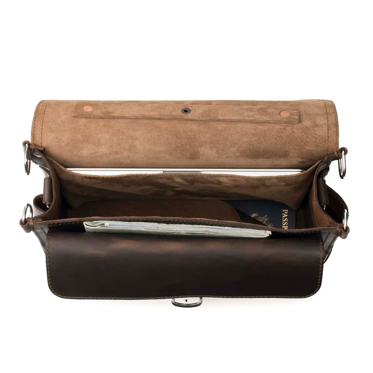 Saddleback Leather Co. Slim Full Grain Leather 15-inch Laptop Computer Bag Includes 100 Year Warranty by Saddleback Leather Co. (Image #3)